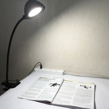 DH-89001 Bed Head Gooseneck Lamp Wall Mounted,Battery Powered Led Reading Light