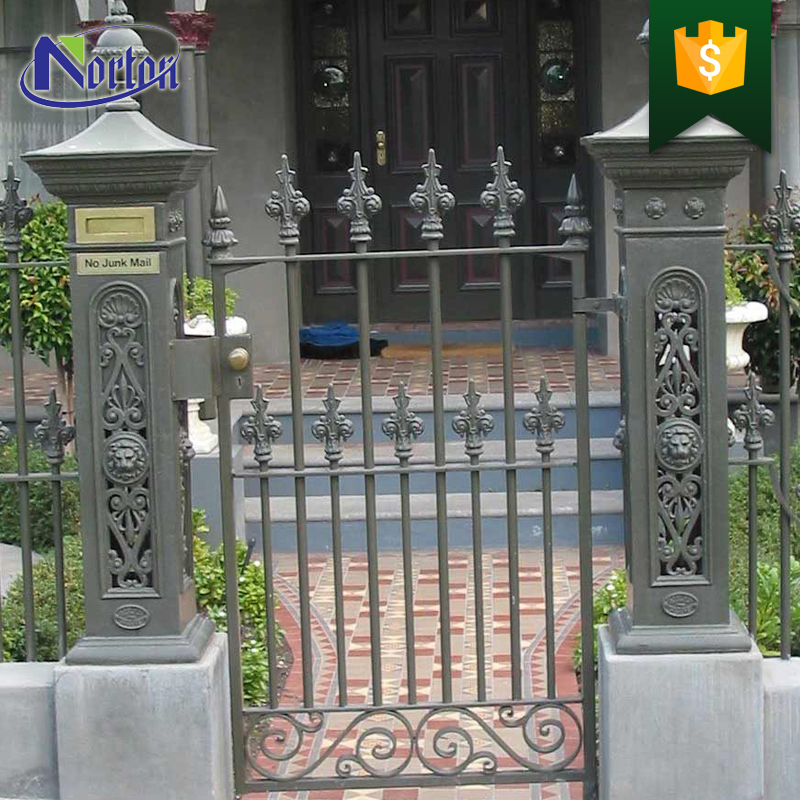 Beautiful residential factory price cast iron wrought iron gates NTIL-006C