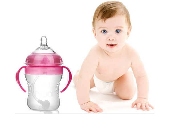 hot new products for 2015 silicone/stainless steel thermos baby feeding bottle with cover