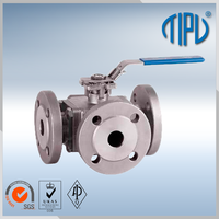 Normal Type stainless steel 3 way ball valve handles for water