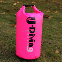 Stock wholesale high quality 210T diamond lattice colth waterproof dry bag,high quality 20l pvc waterproof bags