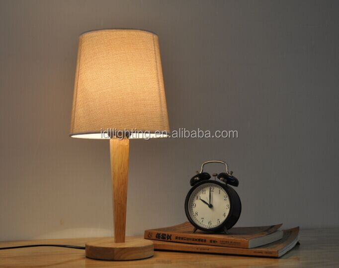 promotion hot sell wooden table lamp