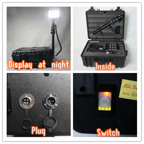 China rescue manufacturer emergency outdoor lighting high flux led 36w 2000lm battery operated towers lighting RLS 936L