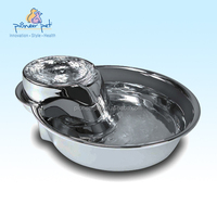 Stainless steel dog and cat fountain-Big max style, 128oz/2015 Alibaba hot automatic pet stainless steel fountain