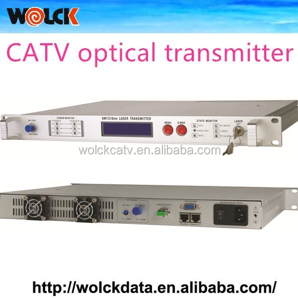 2015 Wolck produce best quality Signal transmitting machine 1310 optical transmitter for Analog and digital Signal