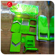 Household kitchen utensil /full sets manual vegetable slicer and chopper dicer