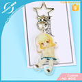 Vograce Acrylic Charms Professional Custom Printed Clear GlitterEpoxy Cover Acrylic Keychain Anime