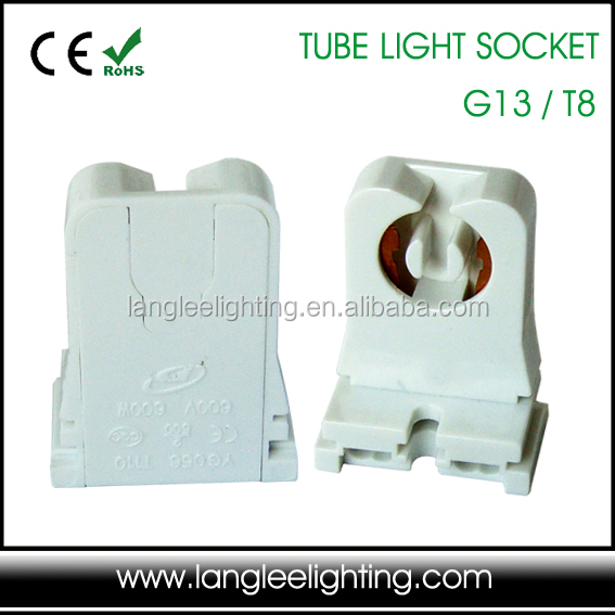UL-listed Non-Shunted T8 G13 Fluorescent Tube Lamp Hholder Lamp Socket