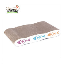Corrugated OEM Accepted Pet Scratching Mat, High Quality Cardboard Material Cat Play House Bed With Catnip