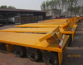 3 Axle Container Chassis Flatbed Semi Trailer on Sale