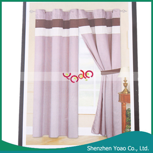ECHO 100% Polyster Purple Curtain Wholesale Ready Made Curtain