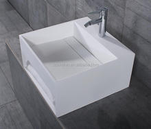 Top quality surgical modern sanitary basin,acrylic wall hung wash basin