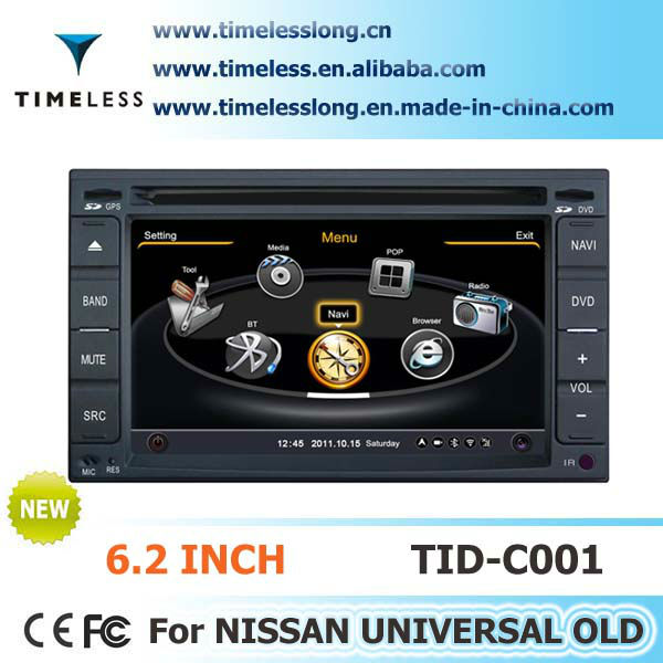 S100 Car DVD Player For Nissan Bluebird with GPS A8 Chipset 3 zone POP 3G/wifi BT 20 dics playing