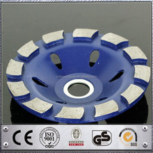 China supplier new premium Cool Pressed Single Row Wet Use diamond double row grinding cup wheels