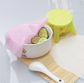Food grade fresh keeping reusable silicone wrap cling stretch film