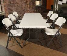 high quality wedding and banquet plastic folding dining table for wholesale