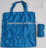 nylon folding foldable solid color shopping bag strong strap