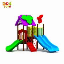 Guangzhou Best Guality Used Slide Equipment Kid Train Preschool Price Plastic Outdoor Playground