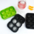 High quality  6 balls 45mm food grade silicone ice ball maker molds