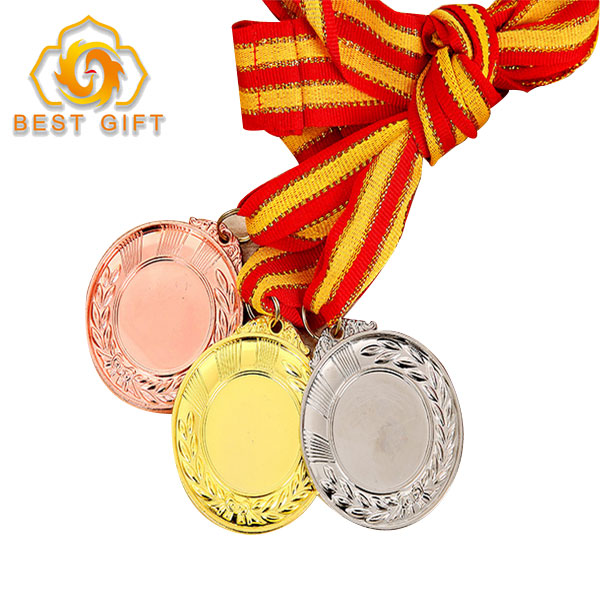 Custom made running swimming marathon taekwondo sports with ribbon award medal