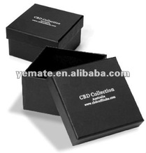 Tie gift packaging - black paperboard necktie box, cord, and sticker.necktie display boxes- black-Perfect for silk scarves logo