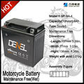 Maintenance free Motorcycle MF Battery Comes in Dry-charged Type 6MF-9A-4 Batteries denel liyang battery