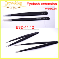 Eyelash Extension Stainless steel Professional Bended Tweezer