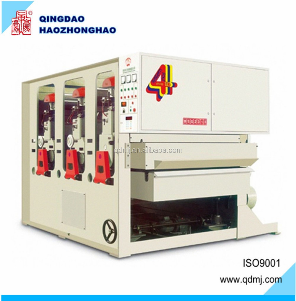 Woodworking wood panel precise calibrating wide belt sanding machine