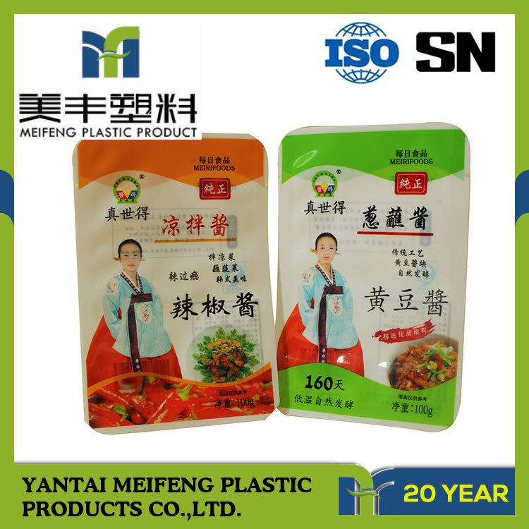 plastic can packed blue Grocery pouch for WEICHAI spare parts