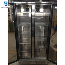 DA-458FS Two Doors commercial dry ager fridge,dry meat refrigeration,dry age cabinet dry aging display