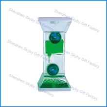 Downward Motion Bubble Liquid Timer