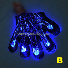 Glow in the Dark Magic Blue Gloves for Night Party