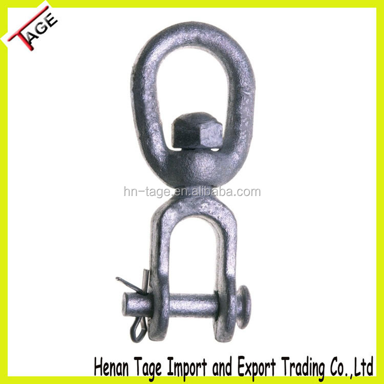 G403 Forged Steel Clevis and Oval Eye Chain Swivel