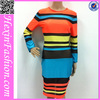 New Arrival High Quality Sexy Long Sleeve Stripe Bodycon Dress