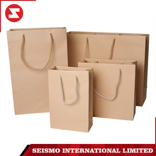 custom wholesale good quality printed fancy design shopping brown craft kraft paper bag