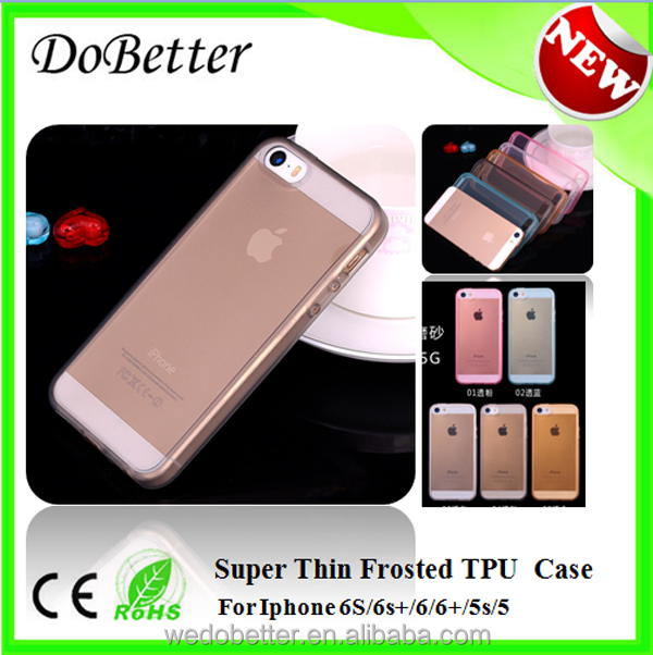 Colorful Cell Phone Case with Soft 0.3mm thickness Eco Friendly TPU Case Cover for ip5s