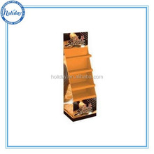 Custom Advertising Cardboard Floor Display Stand Unit / Cardboard Display Rack for Supermarket Promotion