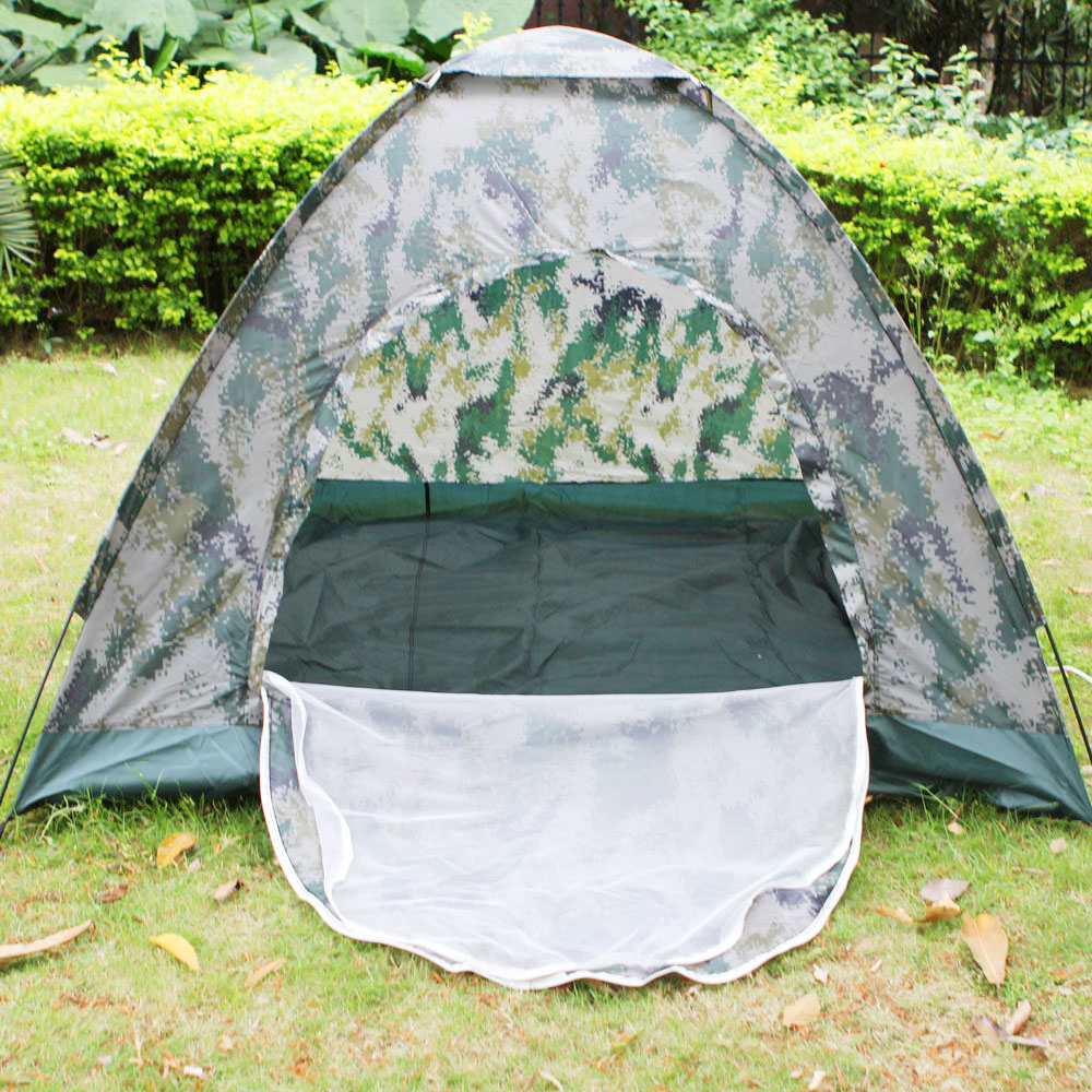 New 4 person Outdoor Waterproof 4 season Folding Camping Tent Camouflage Hiking