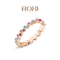 ROXI Wholesale Cheap Ring Fashion Rose Gold Jewelry Simple Ring for Birthday Gift