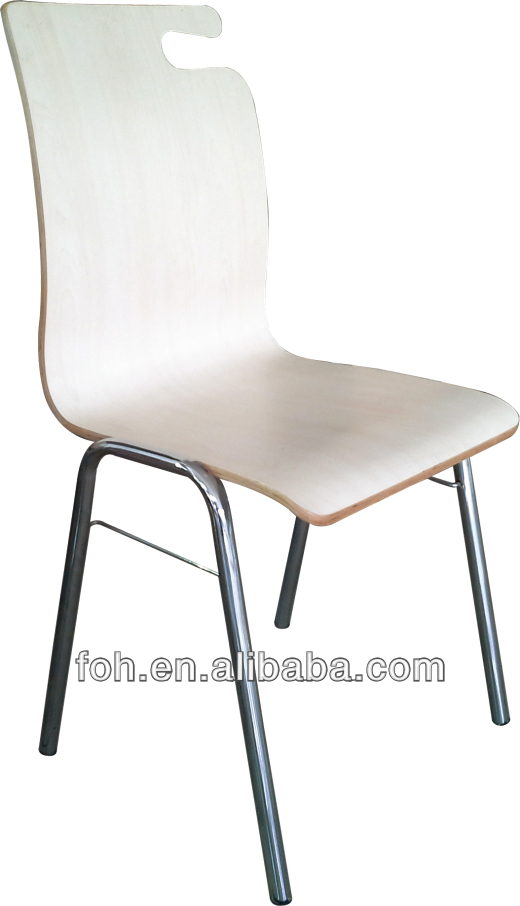 Japanese stackable fast food restaurant dining chairs(FOH-RC7)
