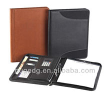 Synthetic leather expandable vertical portfolio file holders