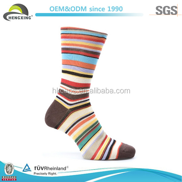 Custom Sock Manufacturer Jacquard Strip Knitted Sock Child Sock