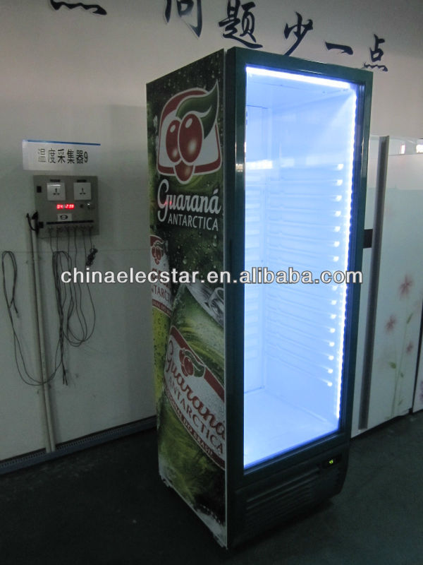 upright display freezer/upright glass door fridge/single door upright freezer showcase