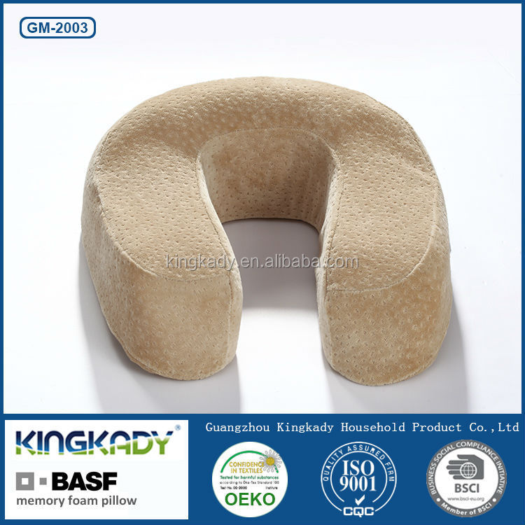Comfortable travel neck care roll memory foam neck pillow