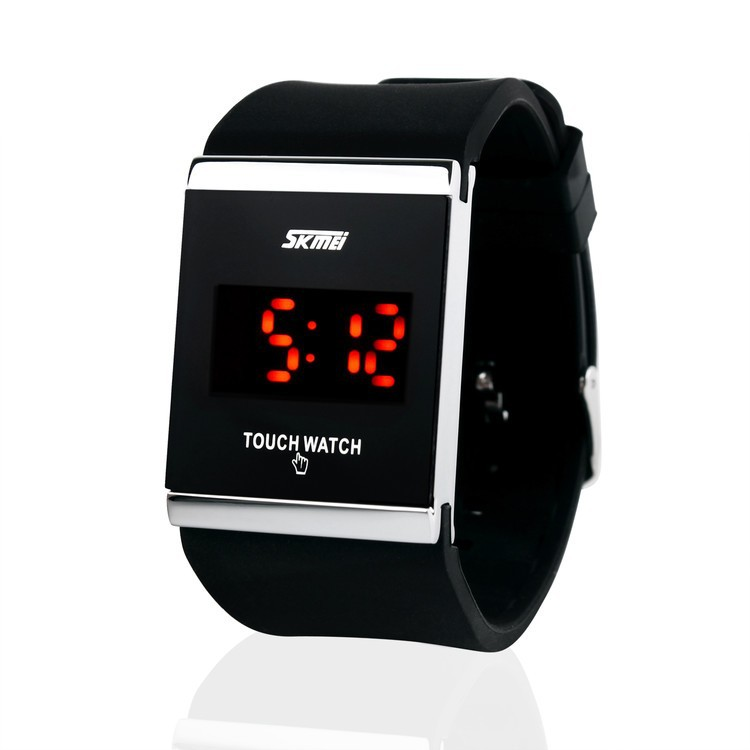 high quality touch screen silicone bracelet led watch