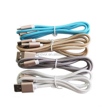 Wholesale high quality braided type c sync data usb cable