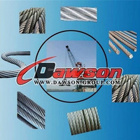 High quality 7X7 galvanized stainless steel wire rope +FC