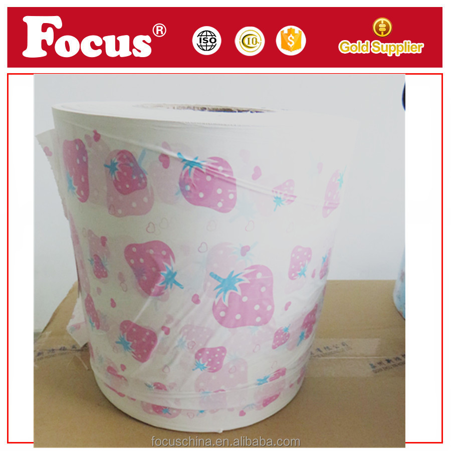 OEM printing film roll ,PE backsheet film for diaper,baby diaper raw material