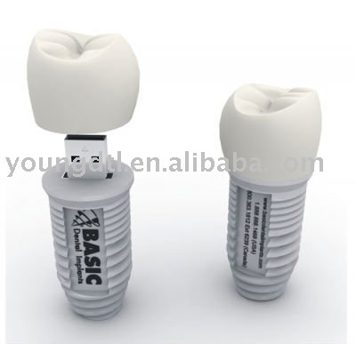 Implant tooth memory stick