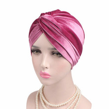 Wholesale fashion muslim hijab cap arabic style Big satin bonnet turban